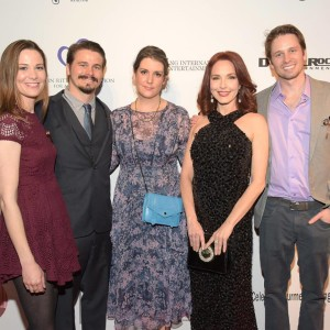The Ritter family arrives at the Roger Neal Style Hollywood Academy Awards Viewing Dinner